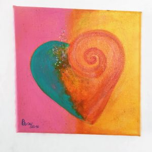 Herzbild #1 auf Leinwand in Acryl