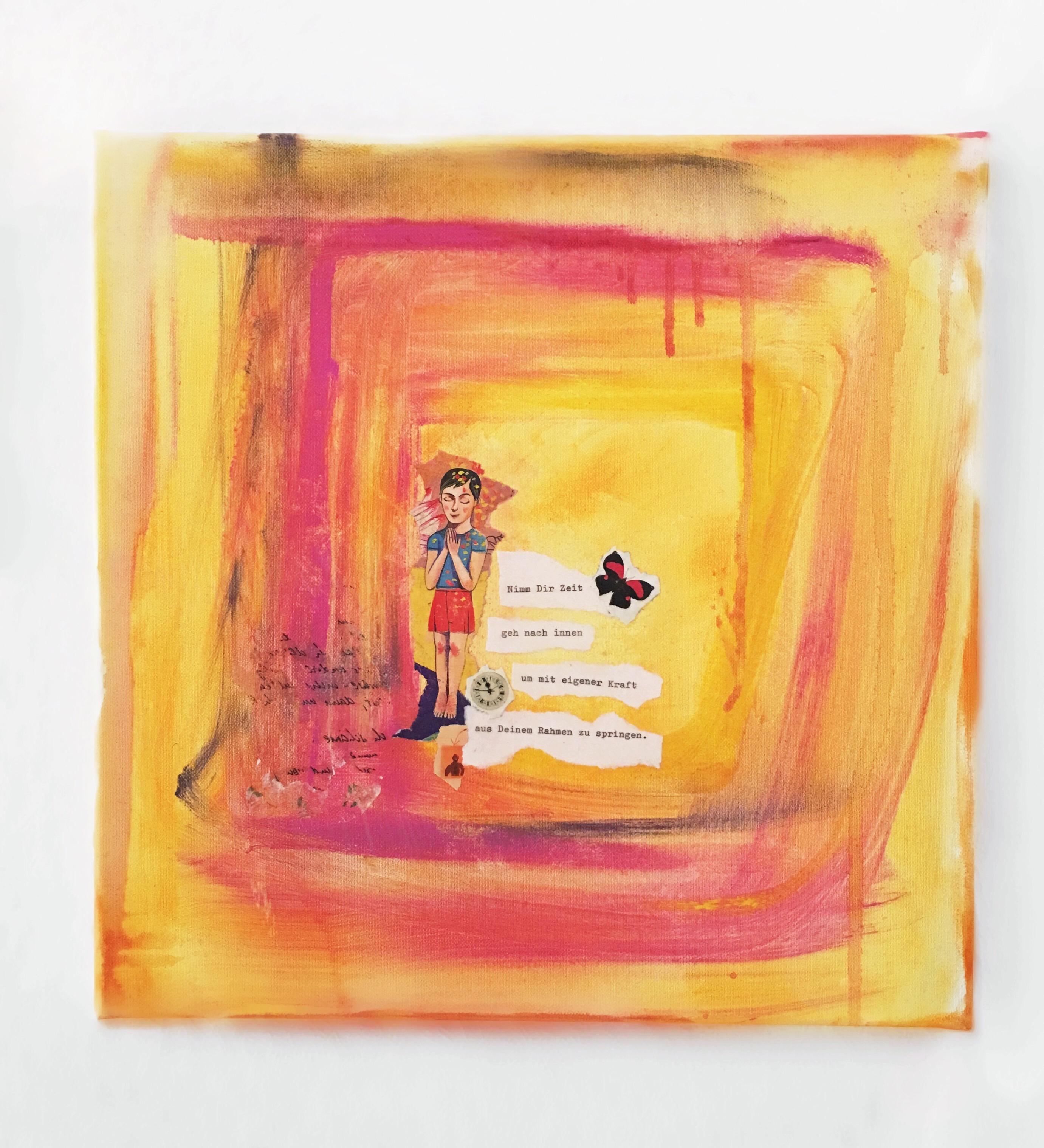 """""""Zeit für dich"""" Bild auf Leinwand in Acryl"""